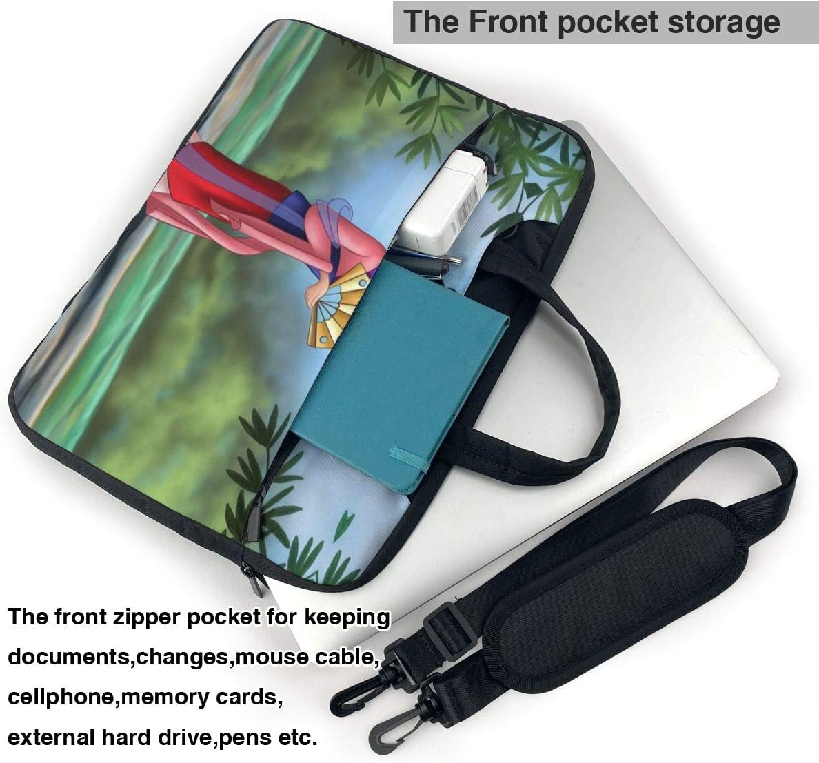 Mulan Laptop Sleeve Case Handheld One Shoulder Shockproof Oxford Protective Case//Notebook Computer Pocket Case//Tablet Briefcase Carrying Bag Compatible-15.6 inch