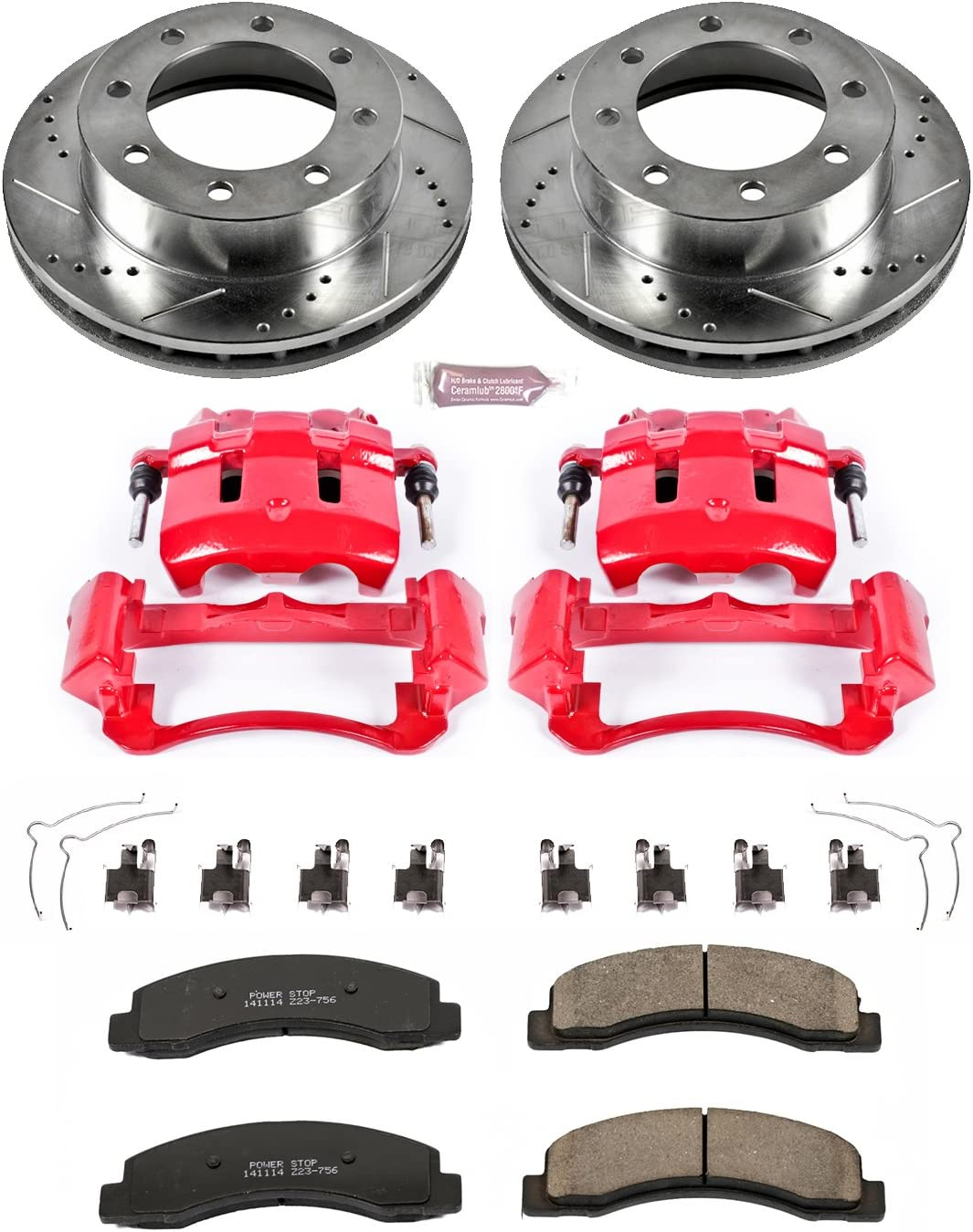 Power Stop KC1891-36 Front Z36 Truck and Tow Brake Kit with Calipers