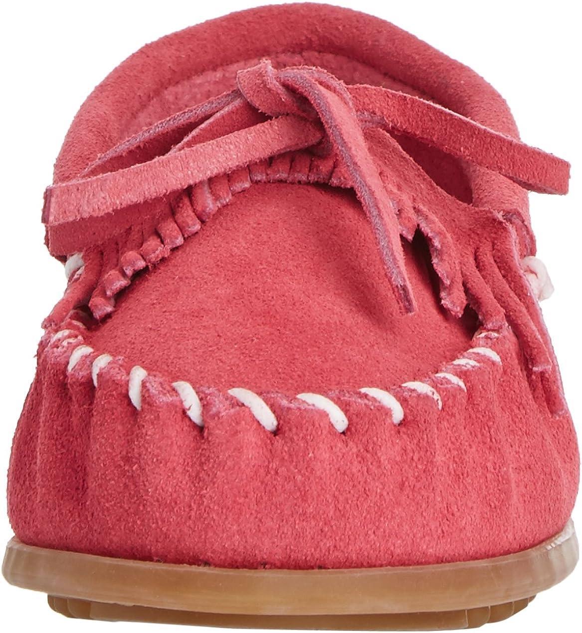 Minnetonka Unisex-Child Kilty Suede Moc Loafers