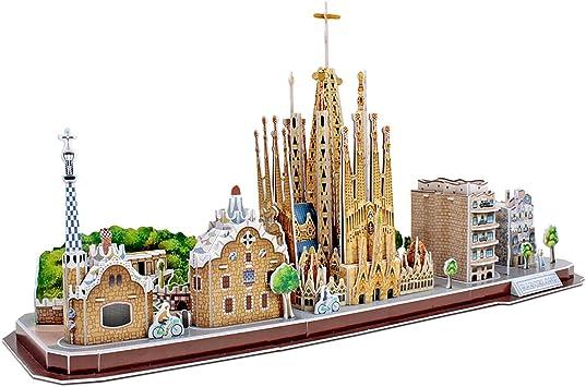 CubicFun Puzzle 3D City Line Barcelona (Tachan MC256h): Amazon.es: Juguetes y juegos
