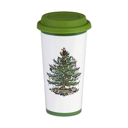 Spode Christmas Tree Travel Mug with Silicone Lid - Amazon.com Spode Christmas Tree Travel Mug With Silicone Lid