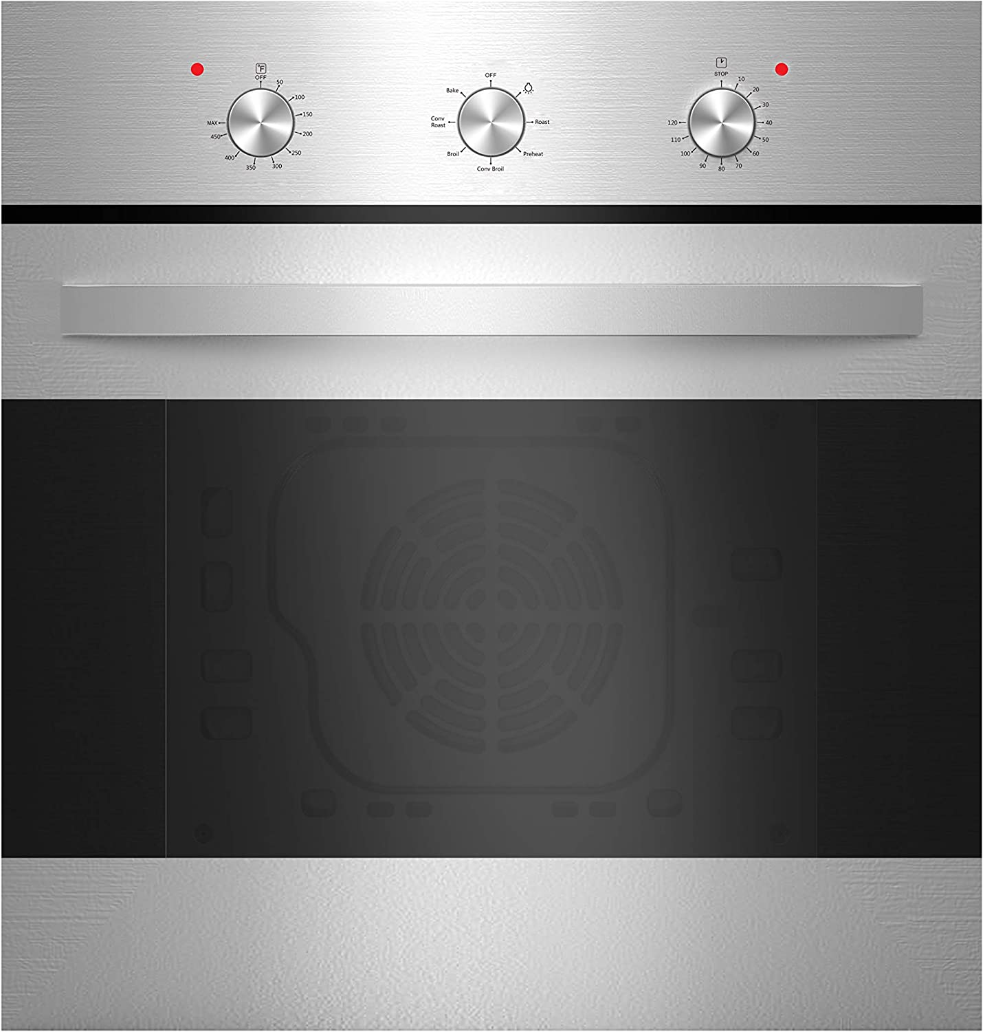 Empava 24'' Stainless Steel Convection Single Wall Oven EMPV-B14LTL