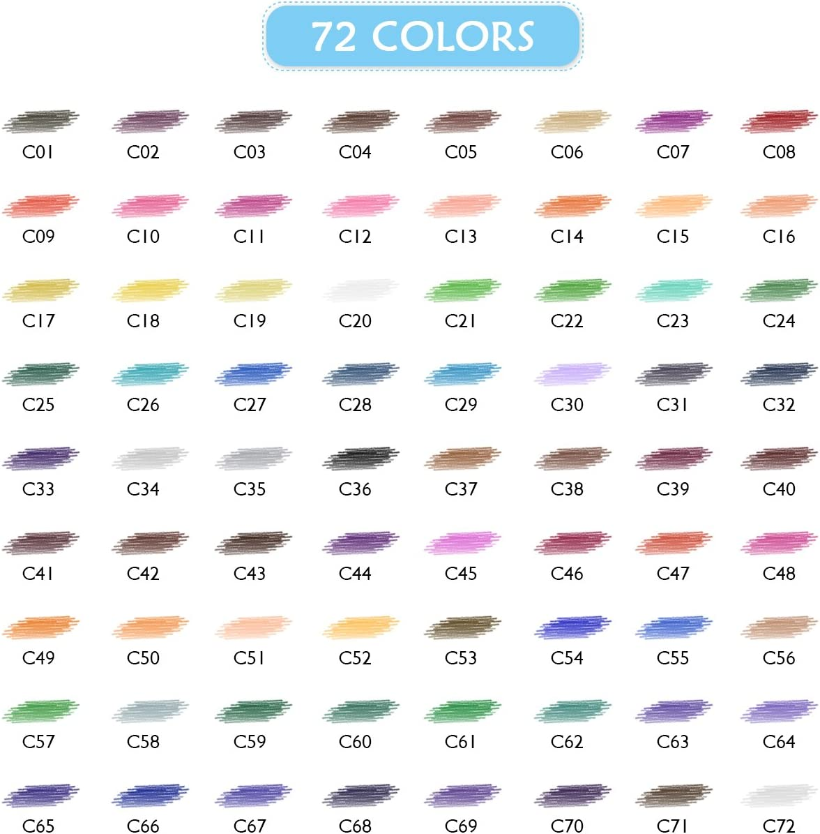 72 Colored Pencils for Adults Pack or Kids Tin Box Package VicTsing Colored Pencils Set Pack of 72 Non-Toxic Oil Based Colouring Assorted Colors