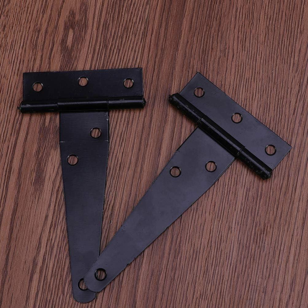 charni/ères de porte en acier inoxydable pour portes de cuisine 2 pouces Noir charni/ères pour portes Doitool Lot de 2 charni/ères en T pour portes en bois
