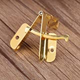 GLOGLOW Spring Hinge,20pcs 90° Angle Support Small Box Hinges Hinge for Jewelry Wine Case Watch Wooden Lid Rubber Wedge Door