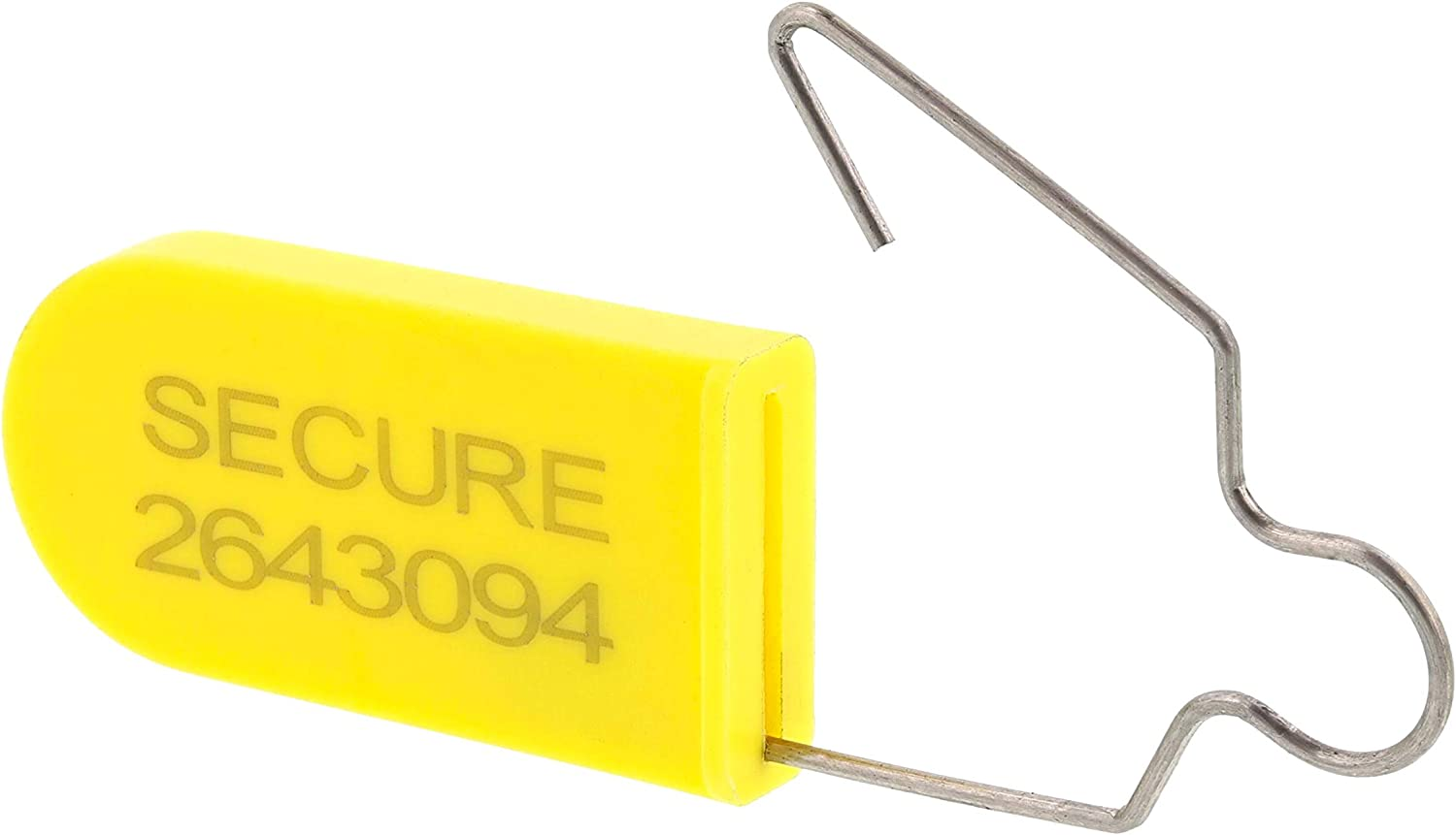 Plastic Padlock Security Seal with Metal Wire-Yellow-100 Pack