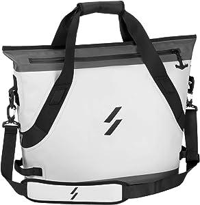 ROCK BROS Soft Cooler Bag Handheld Insulated Cooler Bag Soft Sided Coole 22L Leak Proof Camping Cooler Bag Waterproof Outdoor Cooler Bag for Beach Travel Hiking Gray