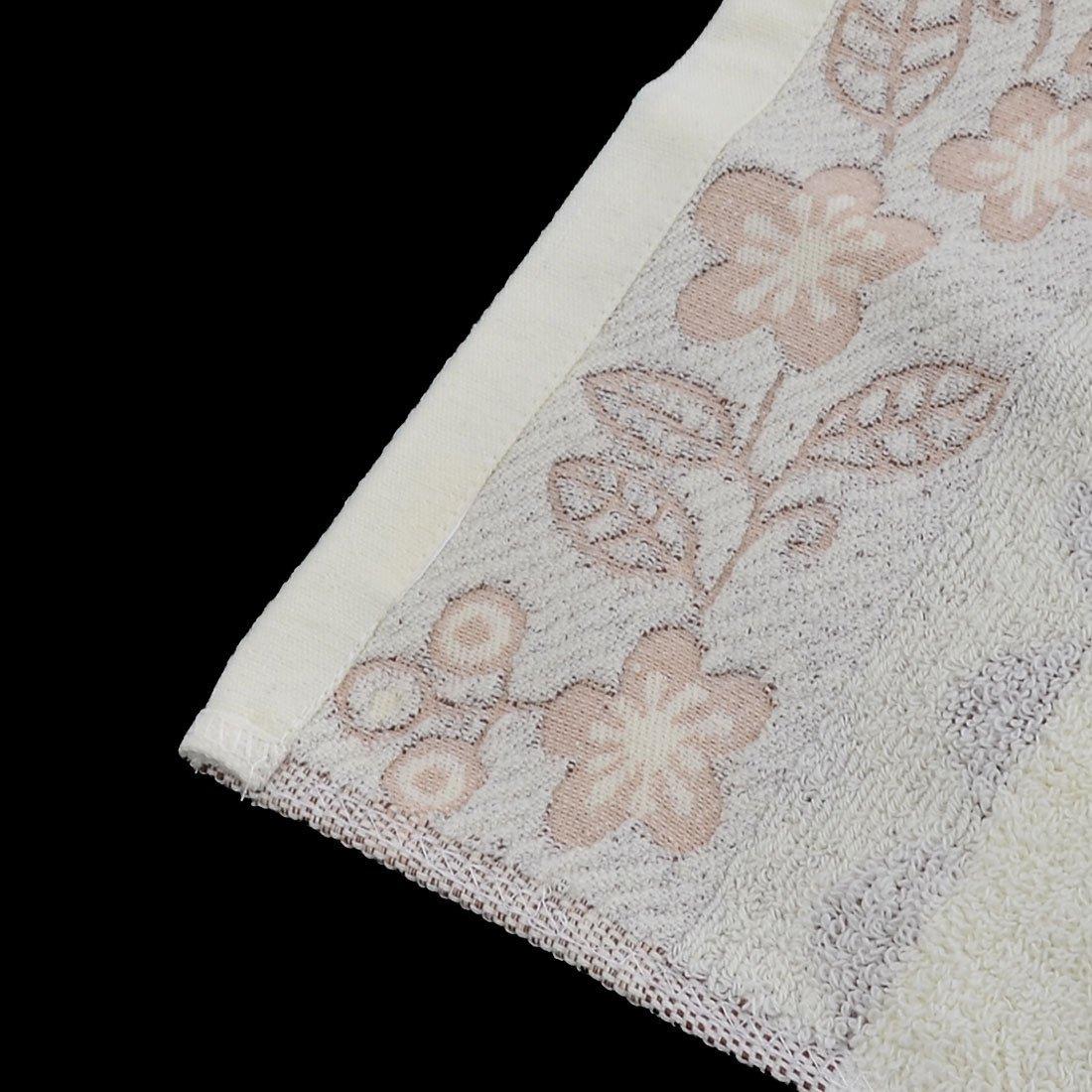 Amazon.com: eDealMax Mezclas de algodón Flor Toalla del inmueble Apartamento Baño Bañera paño de 140 x 70 cm Beige: Home & Kitchen