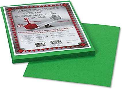 50 Shts//PK Light Green 76 lb 12 x 9 Pacon 103595 Riverside Construction Paper