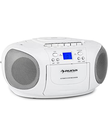 auna BoomBerry • CD-Radio • Minicadena • Radiocassette • CD/MP3 programable •