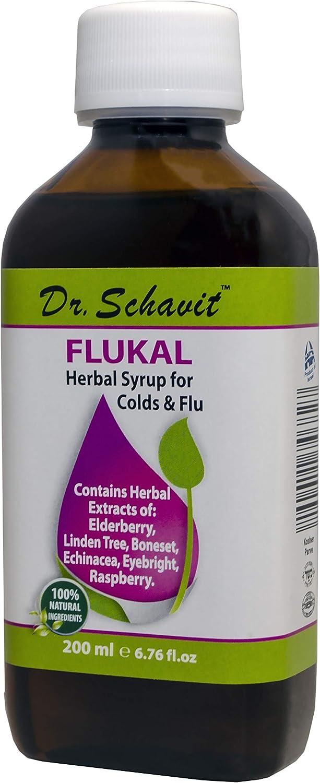 Dr. Schavit FLUKAL Herbal Syrup for Colds & Flu 100% Natural Ingredients 6.76fl.oz