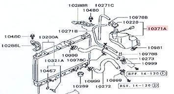 genuine mitsubishi coolant recovery condenser tank reservoir  mitsubishi coolant diagram #8