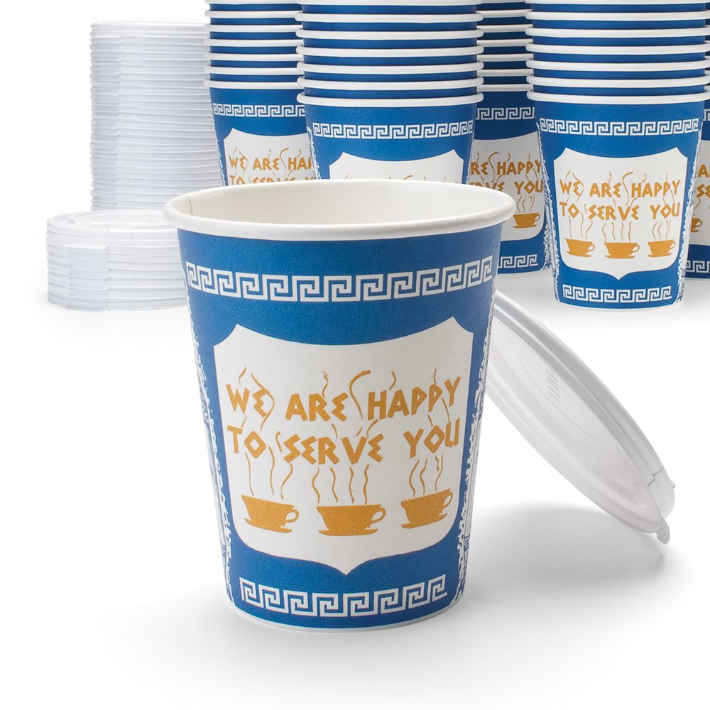 NY Coffee Cup (50 paper cups with lids)