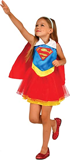 Generique - Disfraz Supergirl DC Super Hero Girls niña 5 a 6 años ...