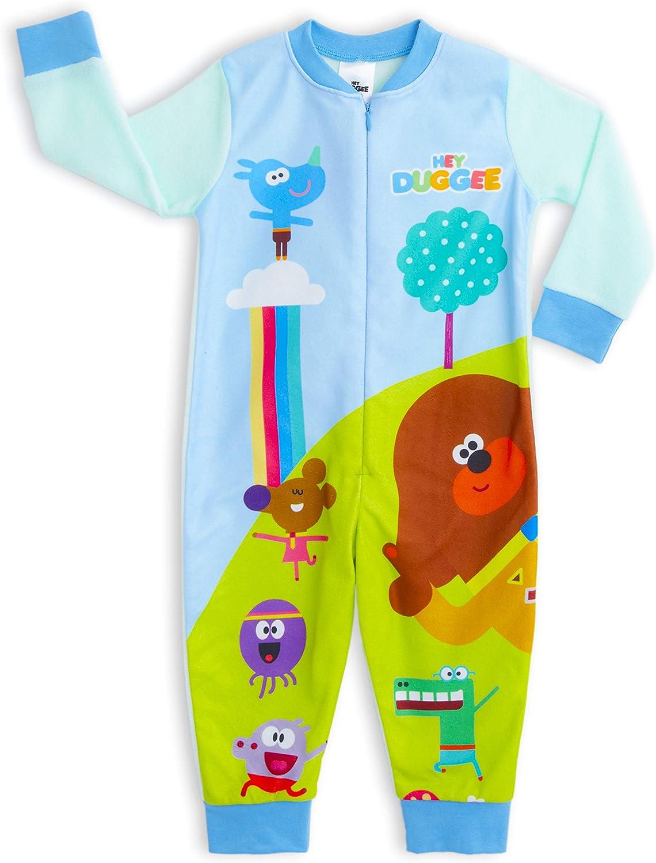 Hey Duggee Squirrel Club Boy/'s Blue Jumpsuit Pyjama Kid/'s Sleep Suit