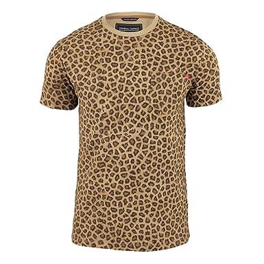 1db3acd4530c06 Criminal Damage Herren Leopard Print T-Shirt Taupe X-Large  Amazon ...