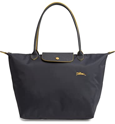 d2a82121830f Amazon.com  LongChamp Women s Le Pliage Gray Club Tote Large  Shoes