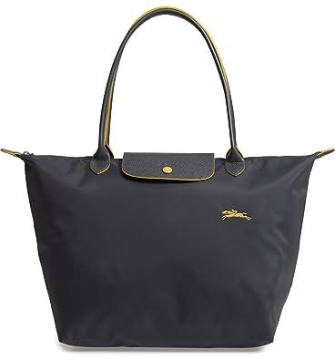 f8babf358189 Amazon.com  LongChamp Women s Le Pliage Gray Club Tote Large  Shoes