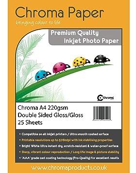 Chroma - Papel fotográfico para Impresora de inyección de ...