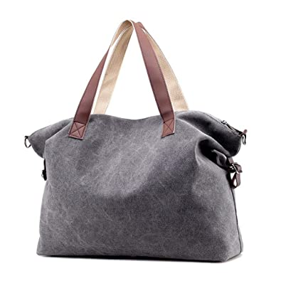 d693404ad22f Image Unavailable. Image not available for. Color  Tote Bags Women Canvas  Vintage Canvas Tote Women Handbags Big Ladies Shoulder ...