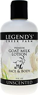 product image for Legend's Creek Farm Lotion, Premium Goat Milk Lotion, No Harsh Chemicals, Deeply Moisturizing, Handmade in USA (Unscented L.)