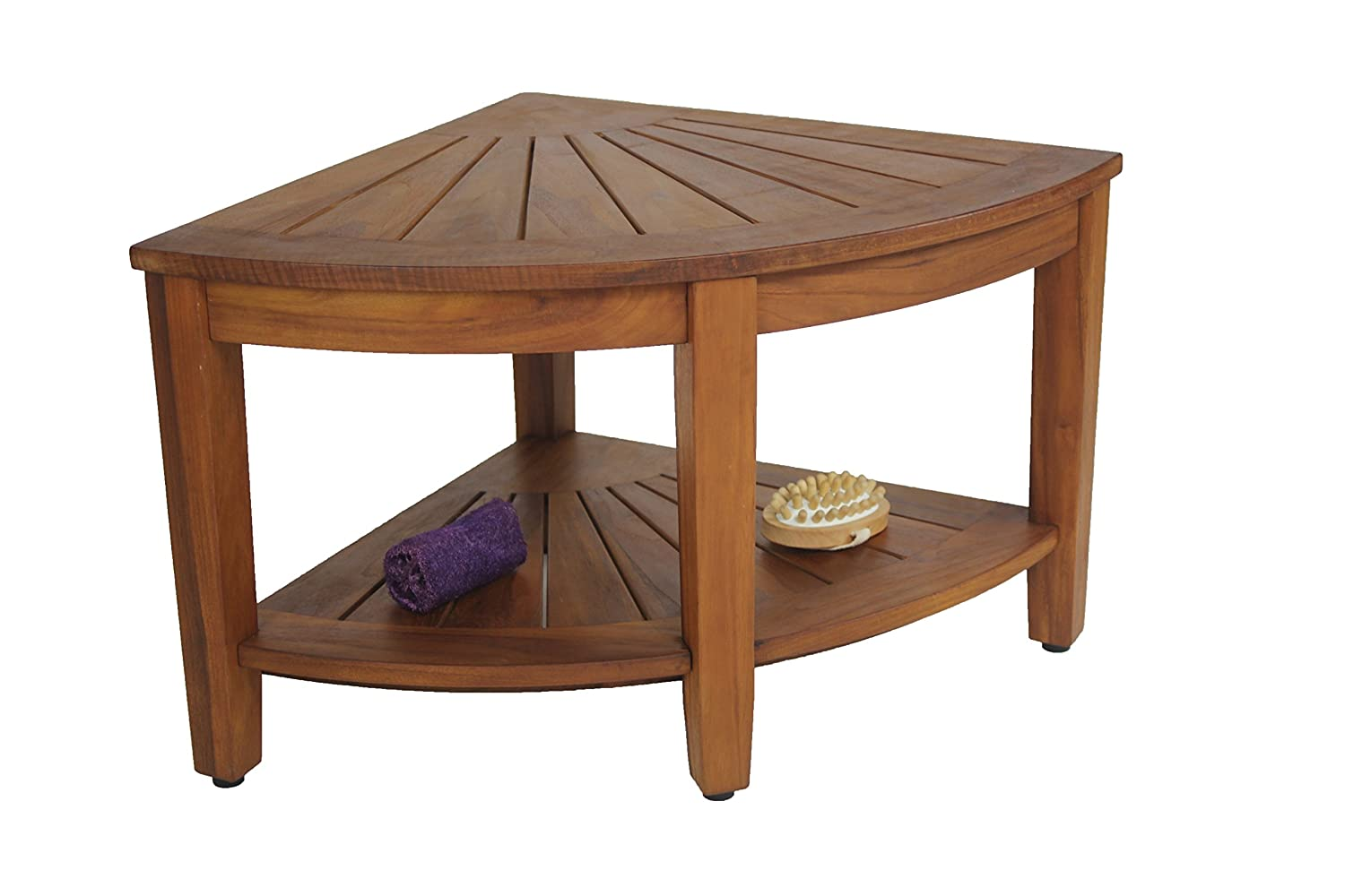 shower collection dining bench dp corner from amazon kitchen teak com stool the