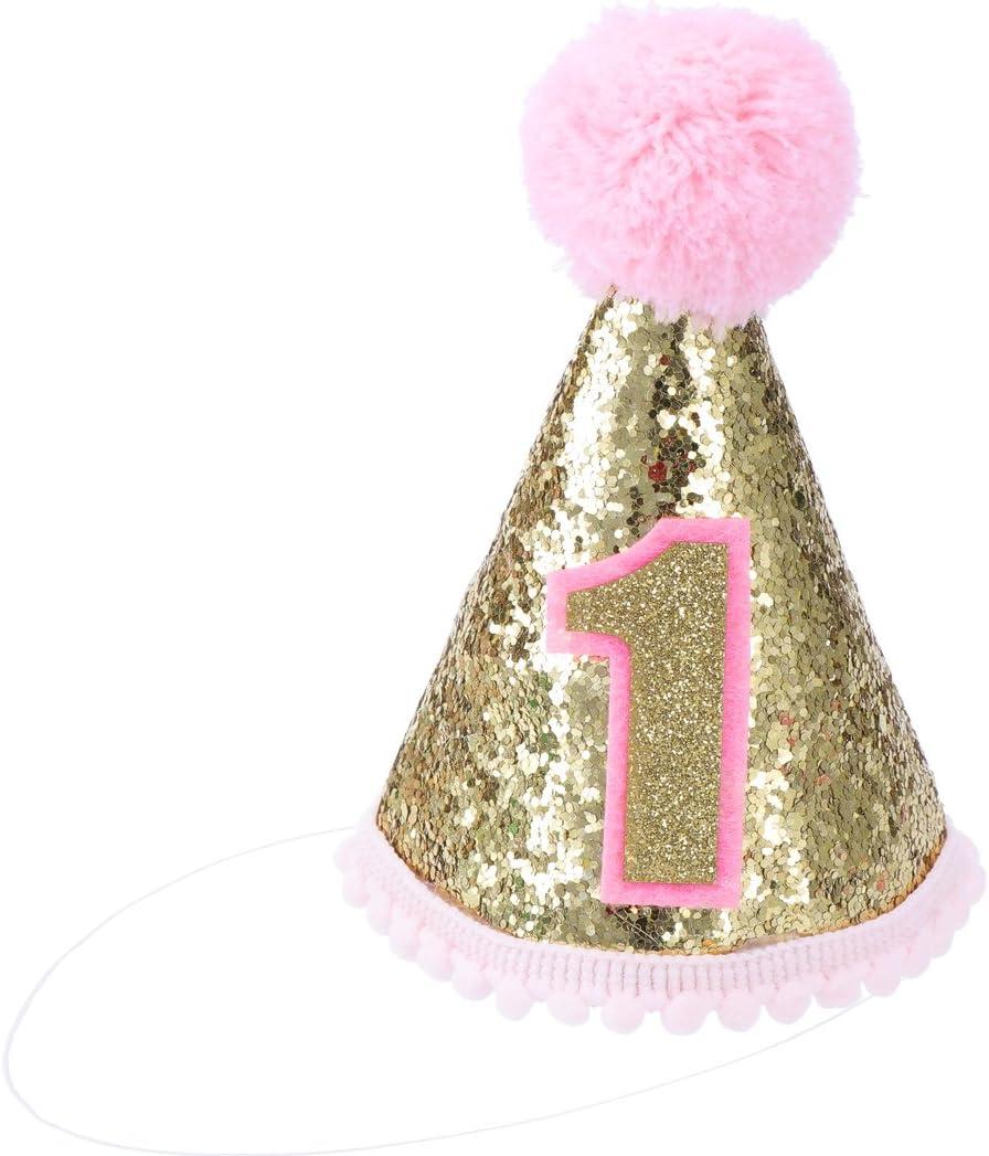Rosa Toyvian Geburtstag Partyh/üte Geburtstagsh/üte mit Stirnband f/ür Baby Party