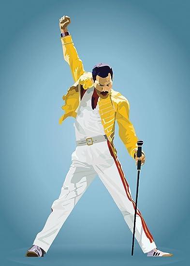 6b1971731ca Athah Designs Matte Finish Freddie Mercury Wall Poster (Paper ...