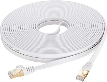 Cat 7 Ethernet Cable 25 ft SNANSHI Outdoor Ethernet CAT 7 Network Cable RJ45 Patch Cord SFTP Gigabit 10//100//1000Mbit//s with Gold Plated Lead for Switch//Router//Modem//Patch Panel
