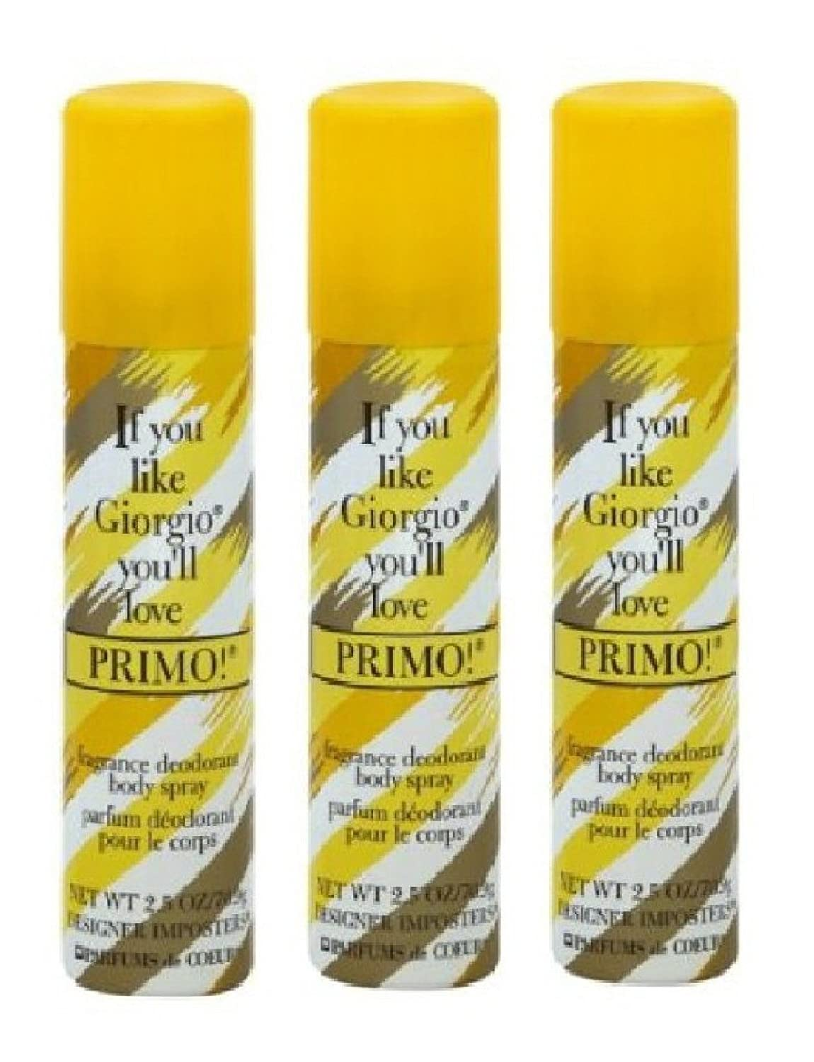 PRIMO BODY SPRAY SET OF 3
