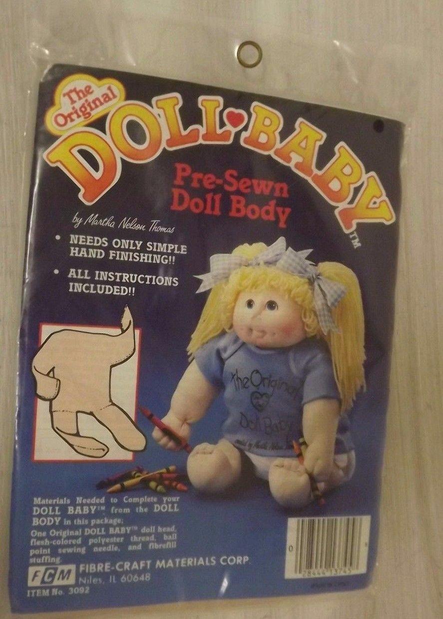 The Original Doll Baby Pre-Sewn Doll Body Fibre-Craft 3092 Martha Nelson Thomas by Fibre Craft