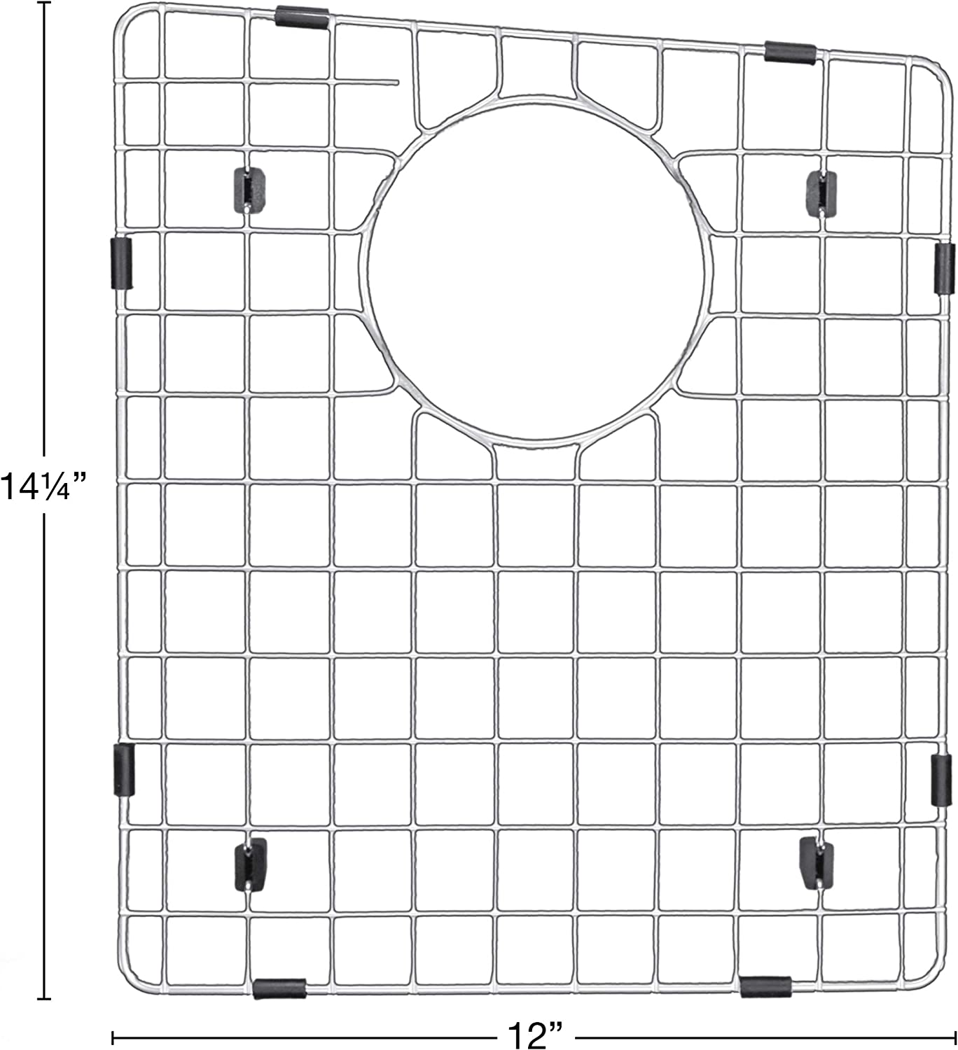 Left Karran Stainless Steel Bottom Grid 12 x 14-1//4 for QT-710 and QU-710