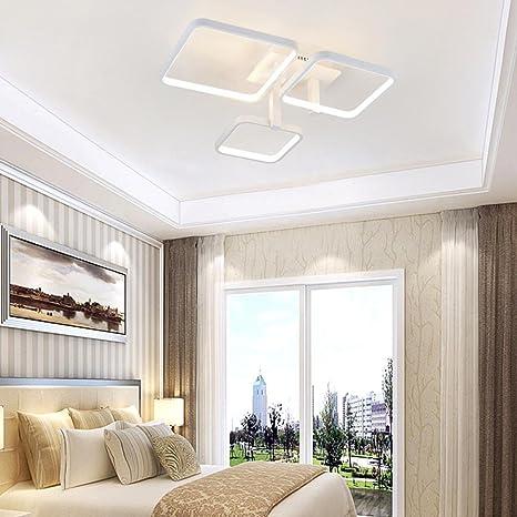 LED Cuadrado Lámpara de techo Aluminio y Acrílico Sencillo ...