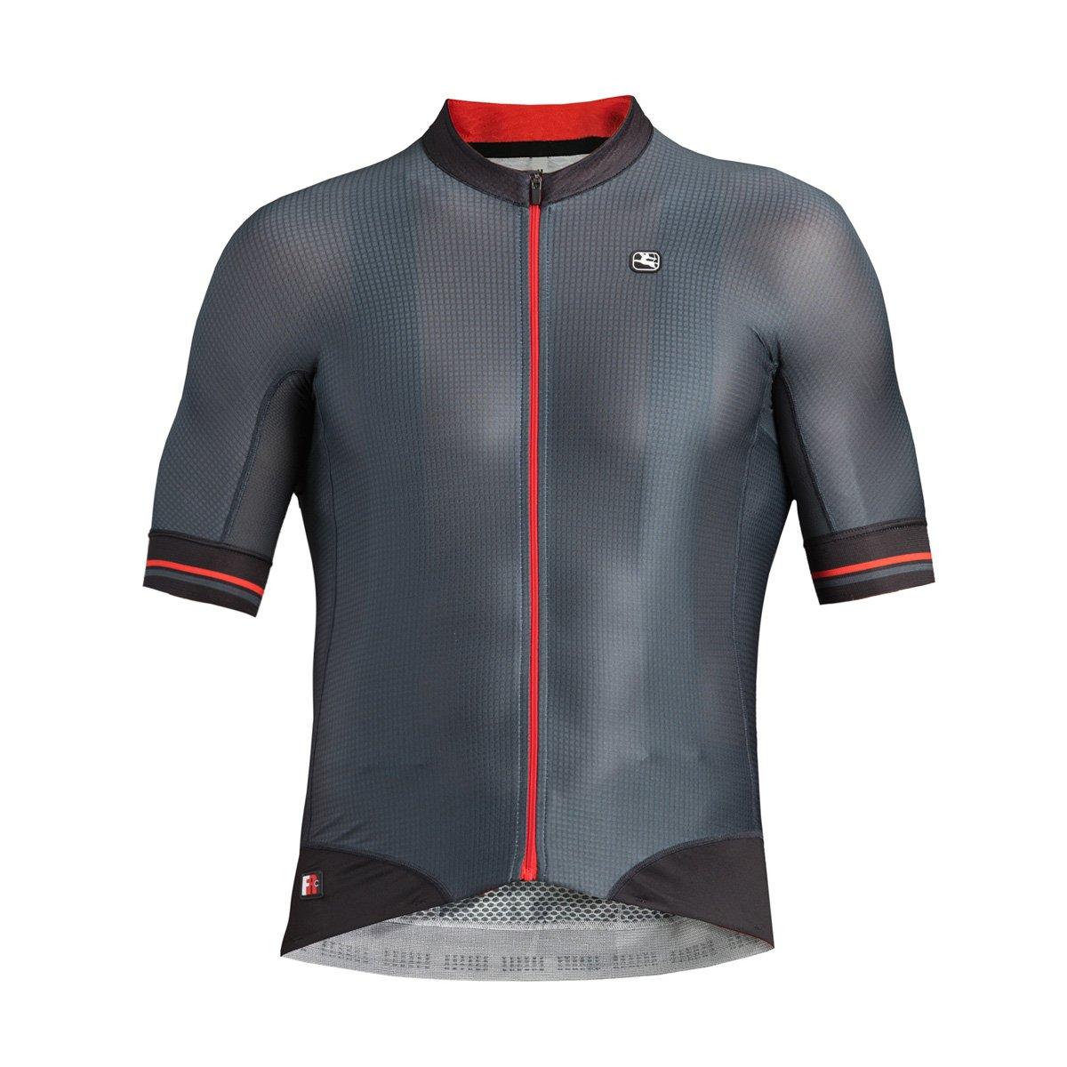 Giordana fr-c Pro半袖Jersey – Men 's B077GX1WHQ XL|グレー/ブラック グレー/ブラック XL