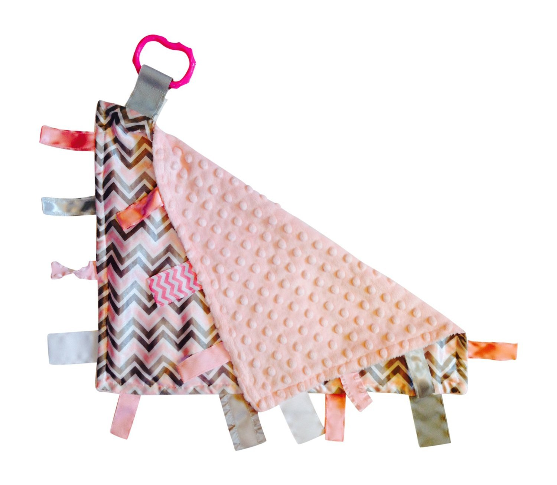 Amazon.com: Pink Gray Chevron – Manta de bebé etiqueta ...