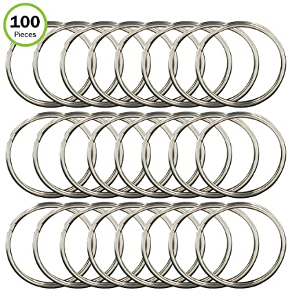 Evelots Ring Clips-Keychain-1 Inch-Steel-Safe Rounded Edges-Arts Crafts-100  Pack