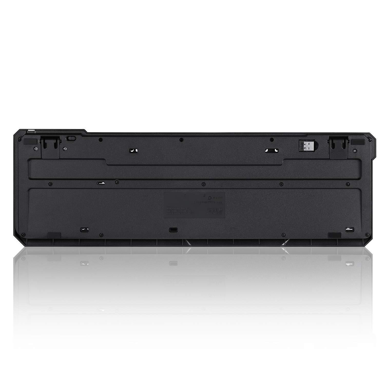 2019 Version PC Hohe Leistung Schwarz KLIM/™ Chroma Gaming Tastatur Bunte Beleuchtung RGB Gamer Keyboard LED Beleuchtete QWERTZ DEUTSCH mit USB Kabel Laptop Xbox One X PS4