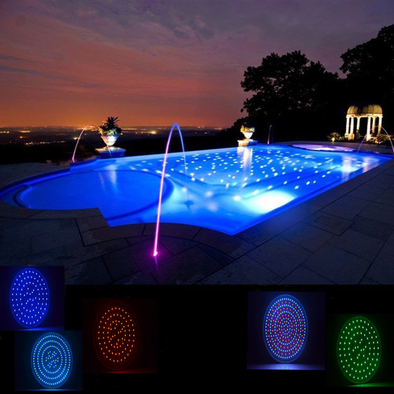 Wyzm 120v 35w Color Changing Swimming Pool Lights Led Par56 Light E26 Ebay