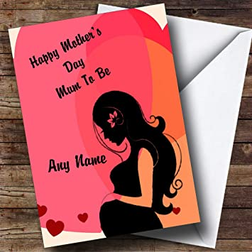 Amazon mum to be pregnant lady personalized mothers day mum to be pregnant lady personalized mothers day greetings card m4hsunfo