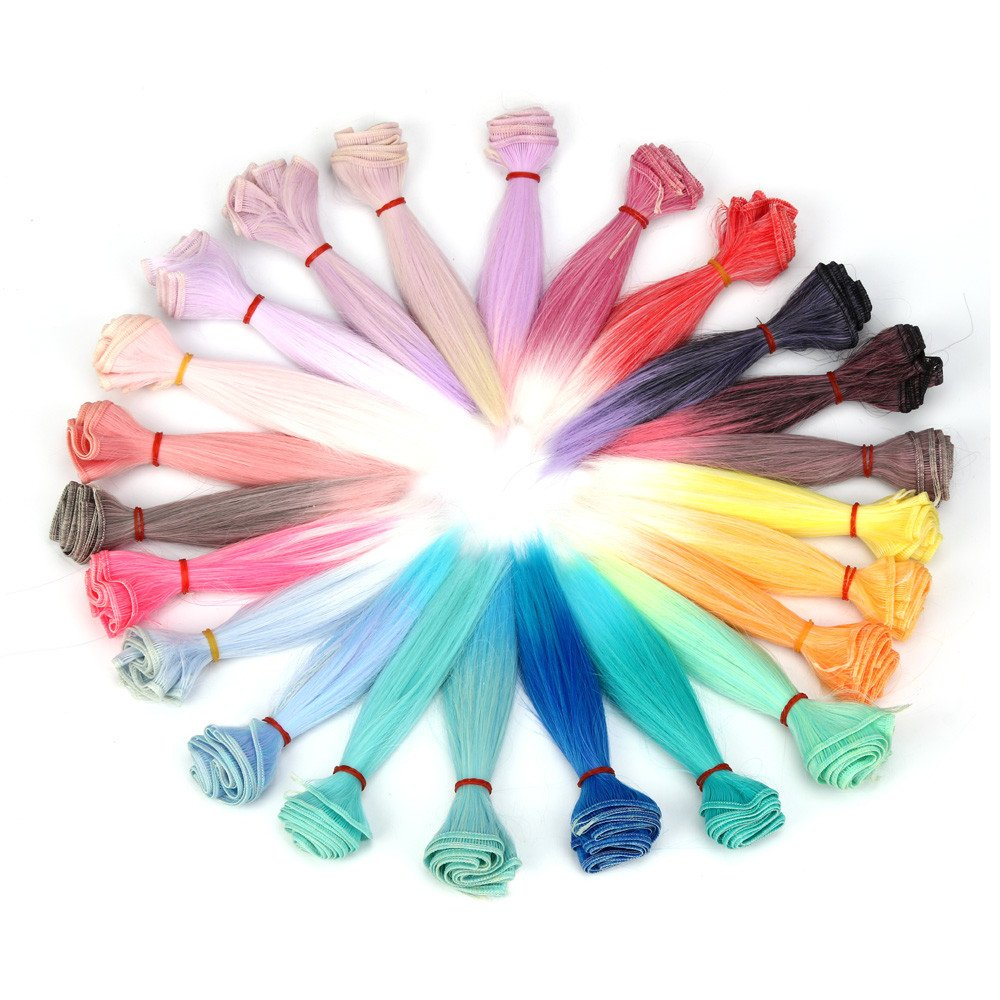 LUNIWEI 15 CM Wholesale Straight Hair Hair DIY / BJD Wig Doll