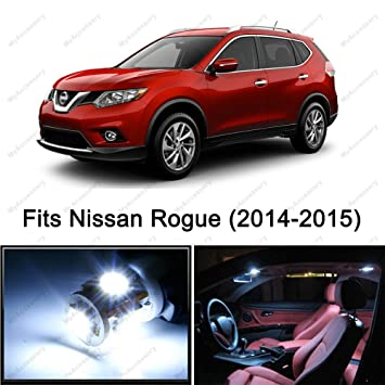 8 x PREMIUM Xenon Blanco Led luces interior kit de paquete para Nissan Rogue (2014 - 2015): Amazon.es: Coche y moto