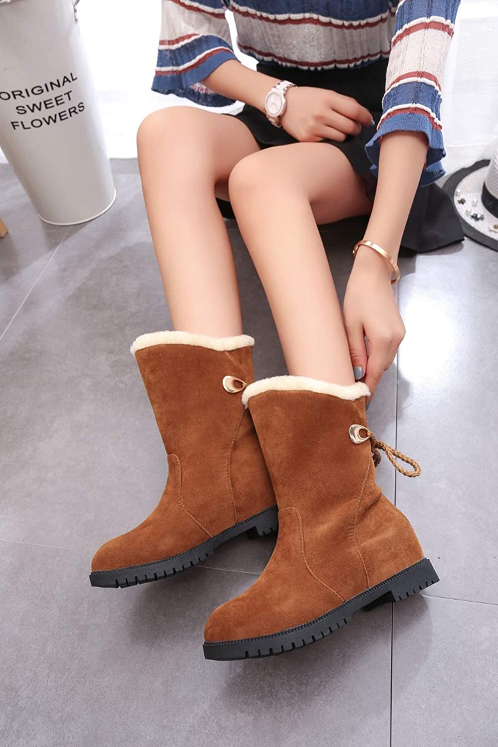 Winter Women Down Boots Fashion Girls Ankle Snow Boots Ladies Anti Slip Plush Insole Warm Fur Shoes