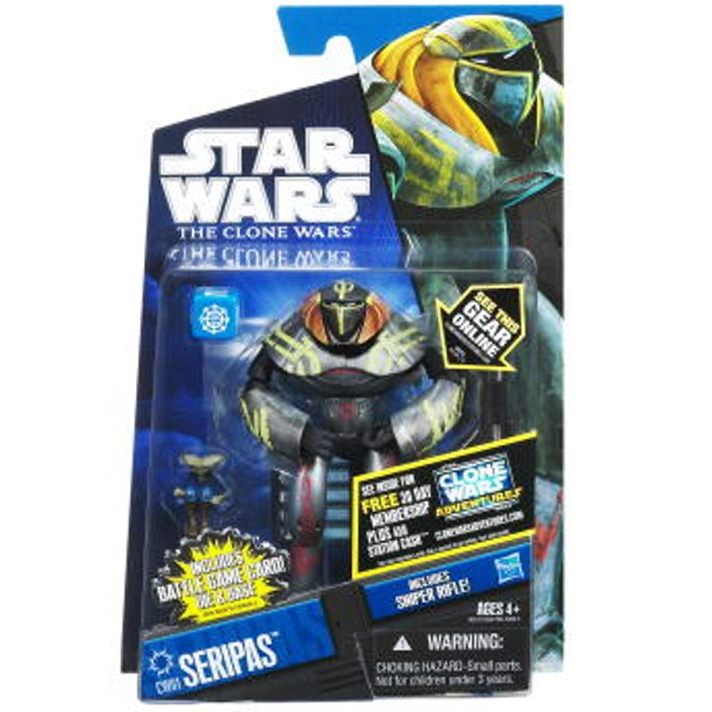 Star Wars 2011 Clone Wars Animated Action Figure CW No. 61 Seripas