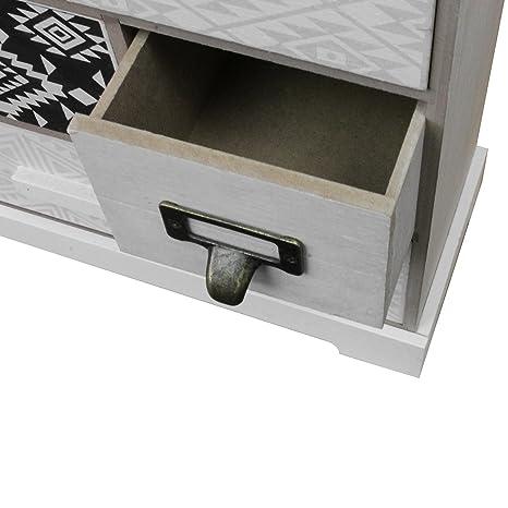 Wohaga Kleiner Schubladenschrank Mit 5 Schubfachern 33x30x12cm