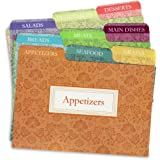 Cookbook People Recipe Card Dividers for 4x6 Recipe Box Tabbed Organizers (Agatha)