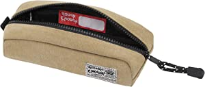 Rough Enough Small Pencil Case Tool Bag Pouch Organizer for Kids Boys Men Teen Storage for School Art Supplies Stationary for College Student Office Travel with Zipper in Beige Canvas Heavy Duty