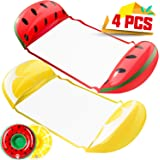 KIDPAR 2 PacksWater Hammock, Inflatable Pool Floats in Fruit Shape, Comfortable Floating Chairfor Adults and Kids, Fun Back