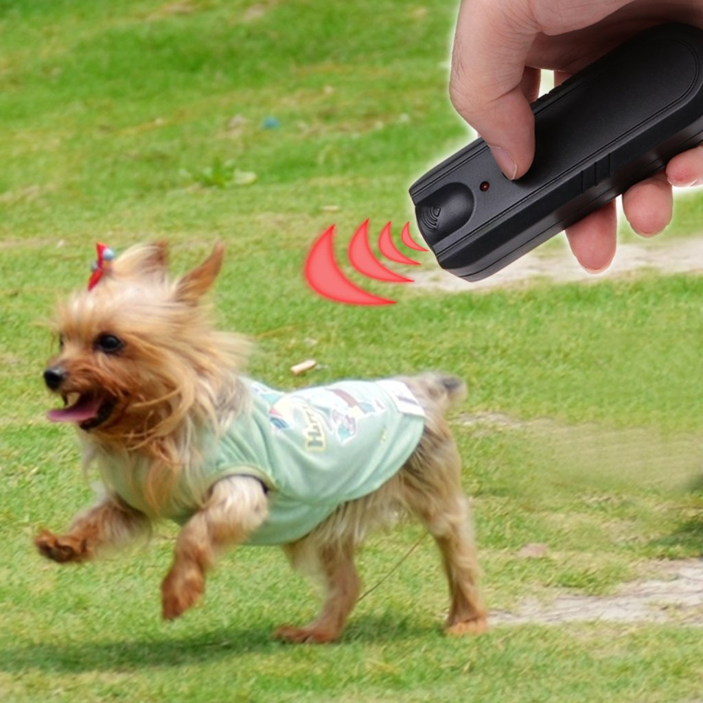 Dog repellent,NNDA CO LED Ultrasonic Anti-Bark Aggressive Dog Pet Repeller Barking Stopper Deterrent Train, ABS,Black
