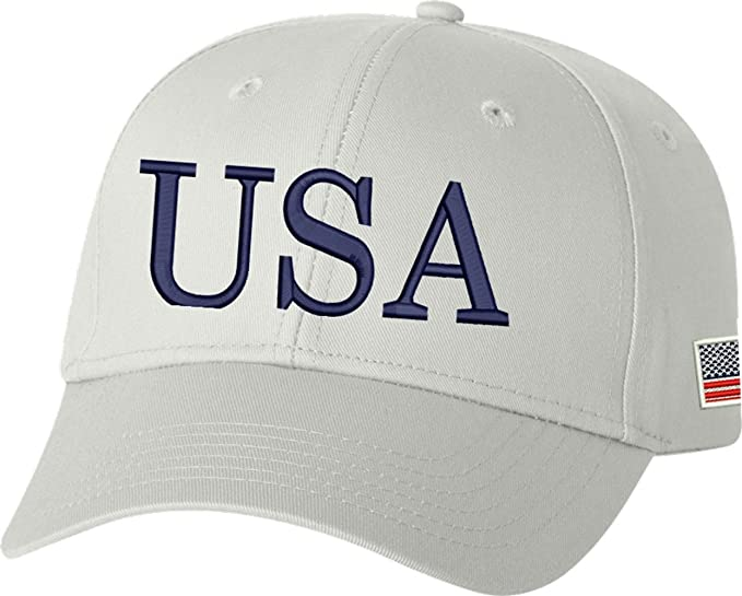 5c65e70b7713b Image Unavailable. Image not available for. Color  Peerless Embroidery  Company USA Trump Hat 45th President Make America Great Again Snapback