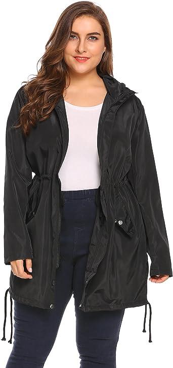 Men/'s Waterproof Raincoat Lightweight Casual Hooded Rain Coat Long Jacket L-4XL